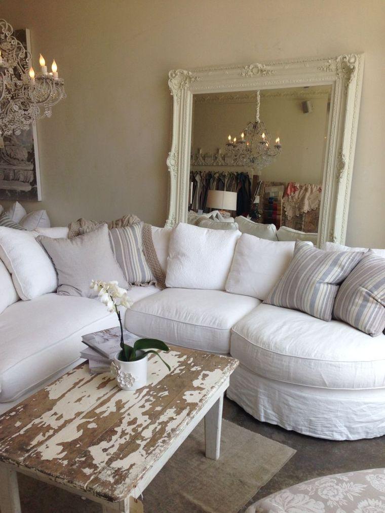 estilo shabby chic amplio sofa