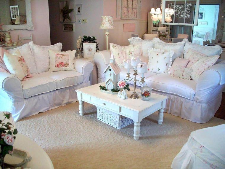 estilo shabby chic sala de estar