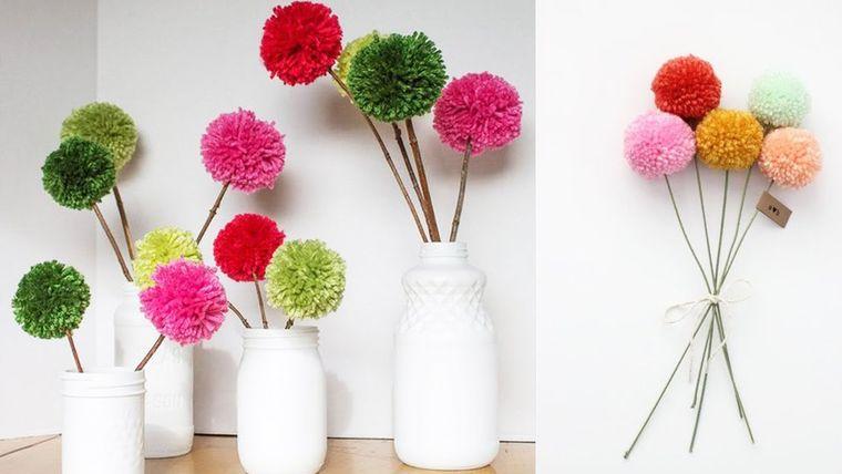 pompoms flowers