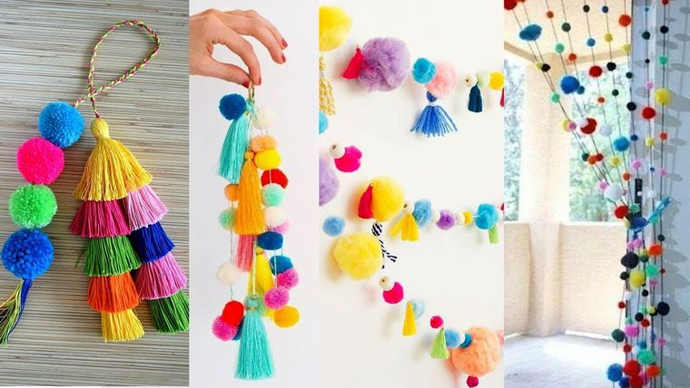 pom poms crafts