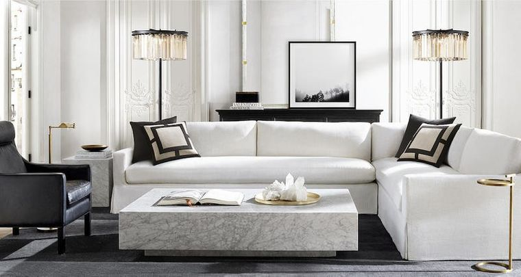 modern marble table decoration