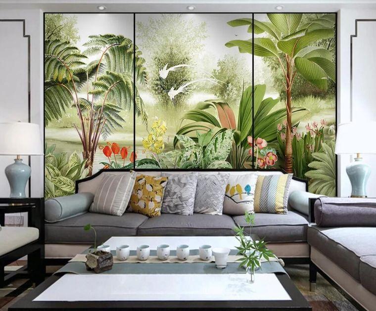 modern decor wallpaper plants