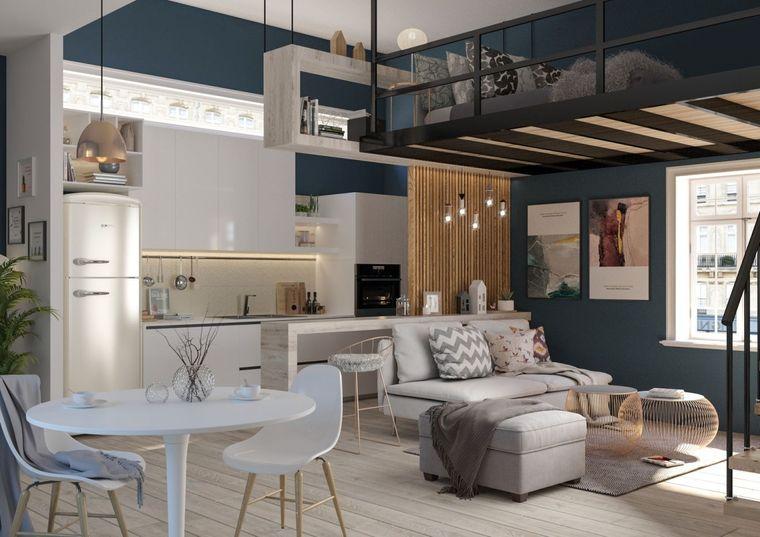 modern decorcation take advantage of space