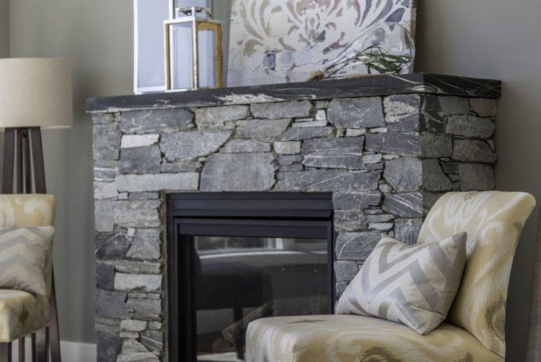 modern stone fireplace decorcation