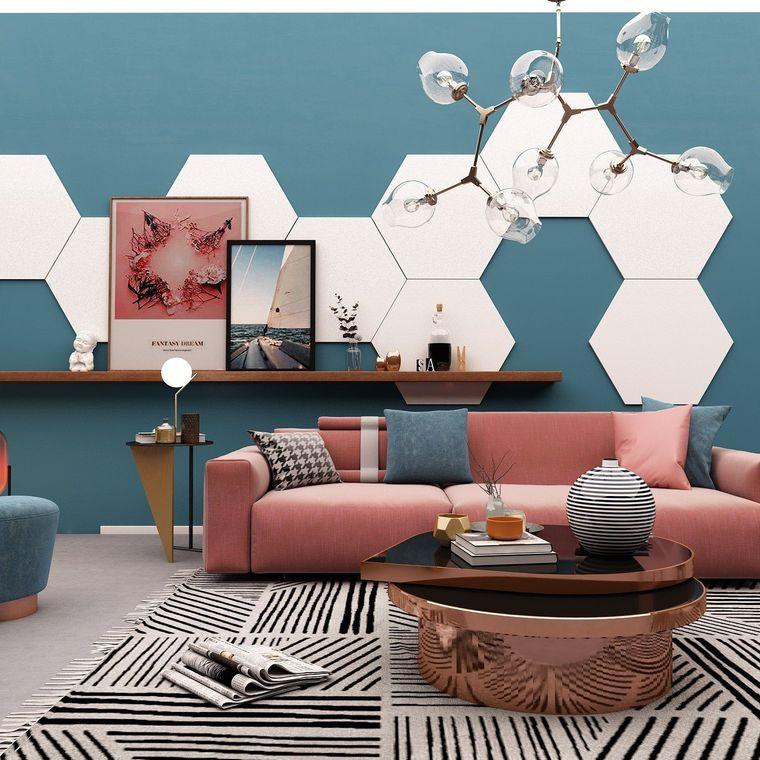 modern decorption hexagonal shape