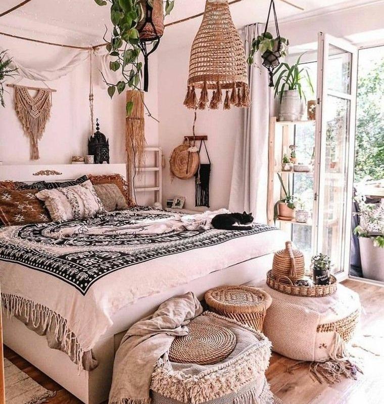 decoración boho clasico dormitorio