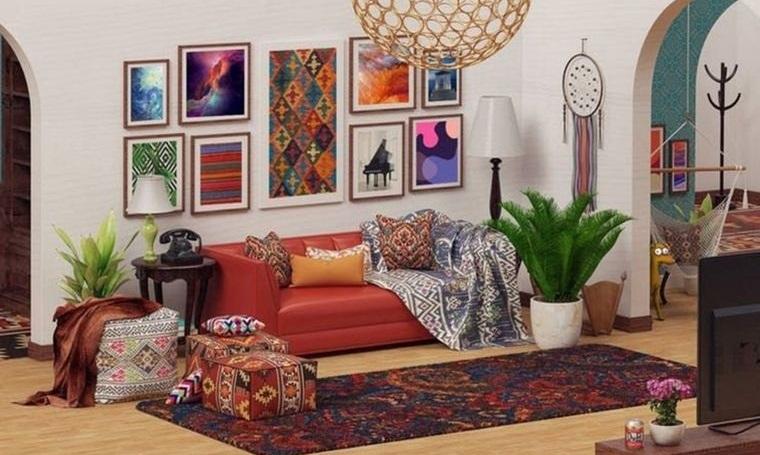 decoración boho hermosos colores llamativos