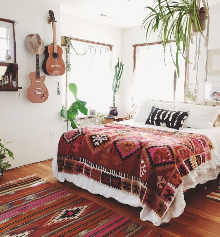 decoración boho para dormitorio