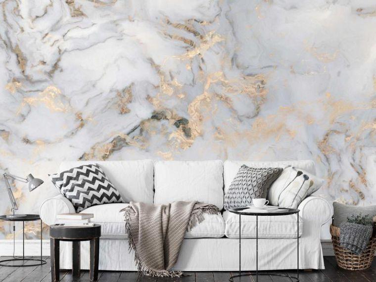papel tapiz efecto marmoleado