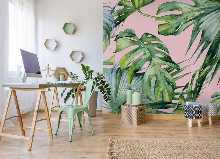 papel tapiz estilo botanico