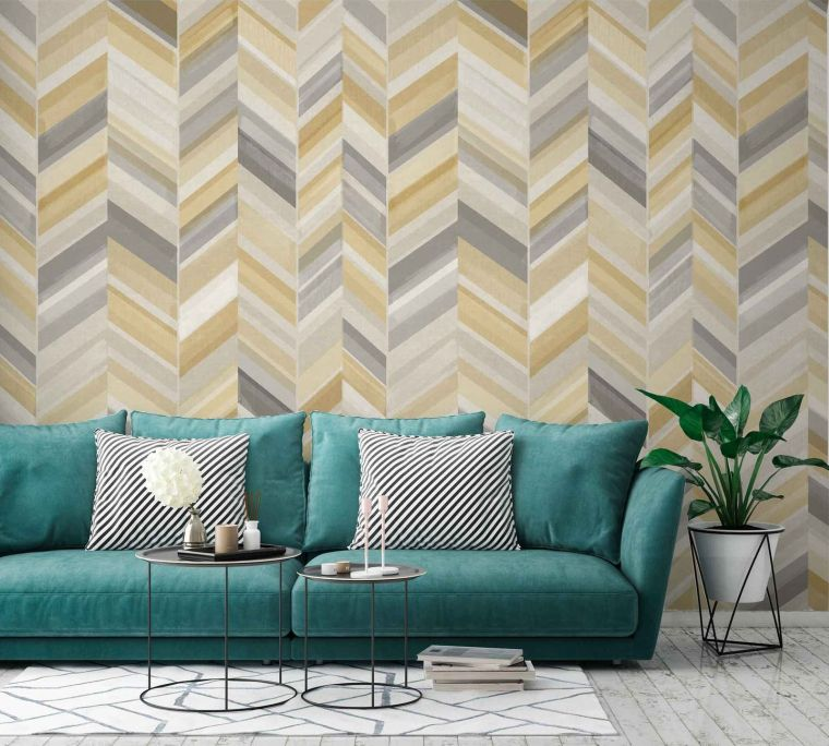 papel tapiz patron geometrico