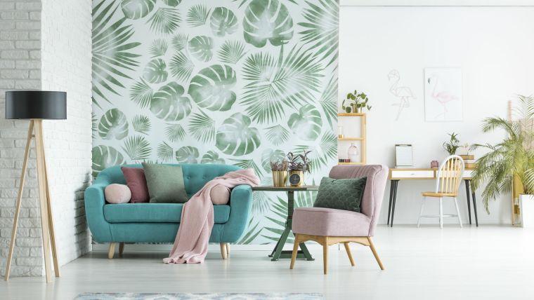 papel tapiz patron tropical