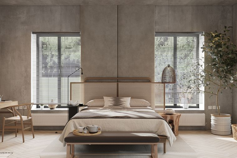 tendencias decoración dormitorio japandi