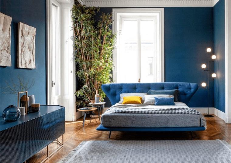tendencias decoración dormitorios en azul