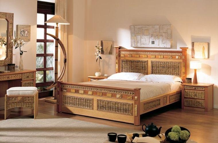 tendencias decoración materiales naturales dormitorios
