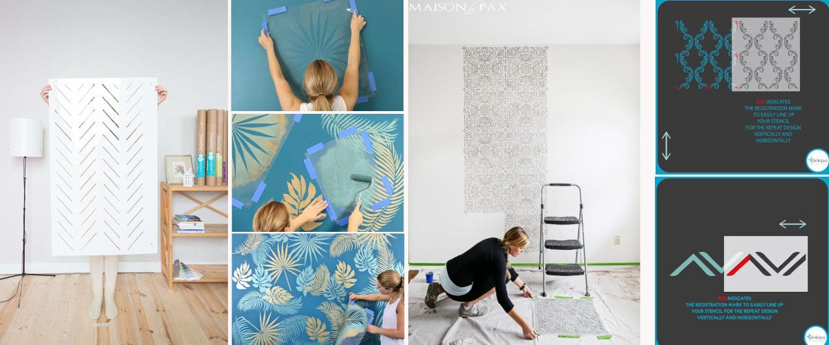 How to use a stencil to paint walls