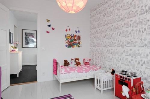 decorate scandinavian children's bedroom
