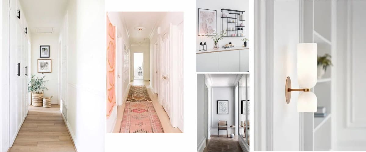 How to decorate a long narrow hallway