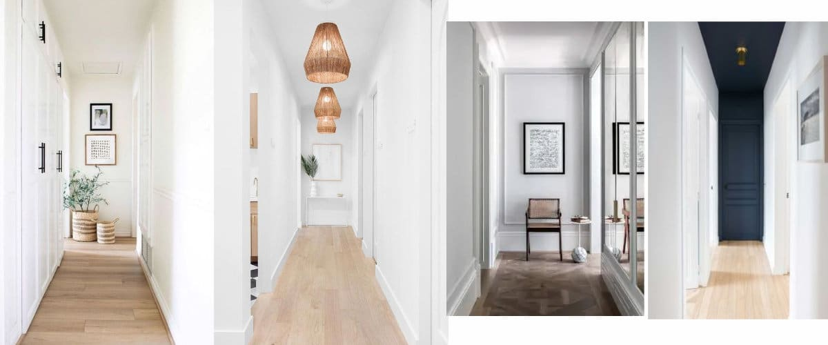 Ideas to decorate the bottom of a hall