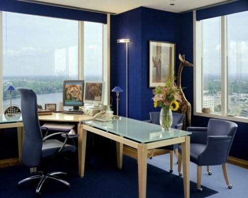 blue office