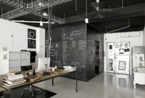 black office