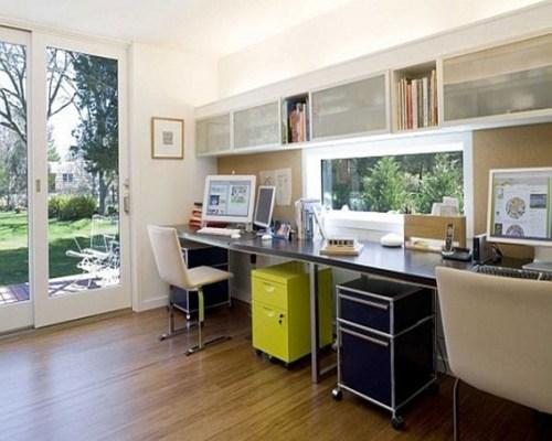 beige office