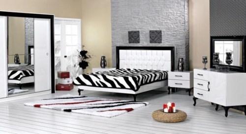zebra double bedroom