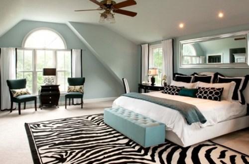 zebra couple bedroom
