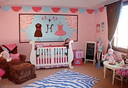 zebra decorated bedroom