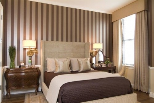brown and white couple bedroom