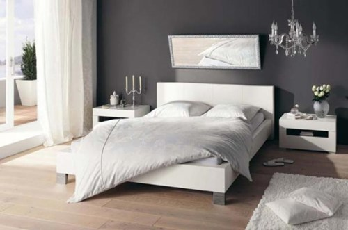 bedroom couple neutral colors