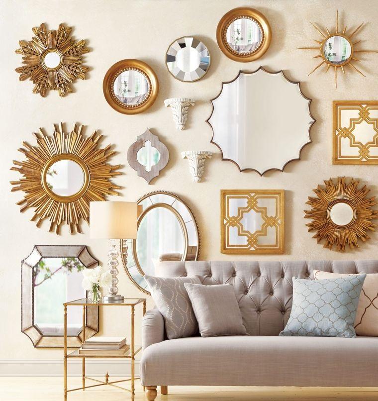 mirror decoration statement wall