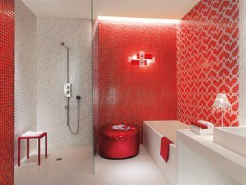 baño-moderno-rojo