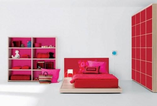 bedroom-fuchsia-red